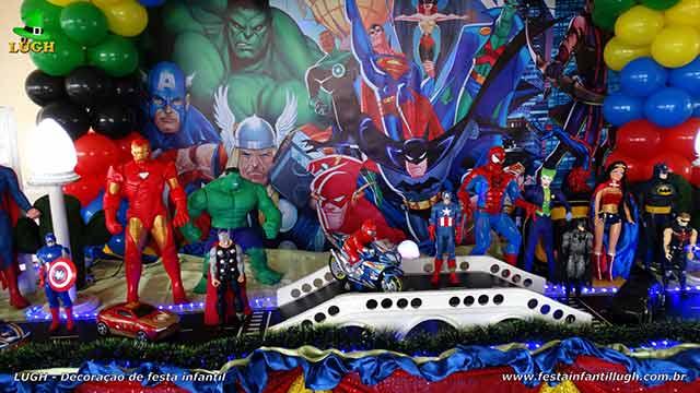 Decoração Super Heróis para festa de aniversário infantil