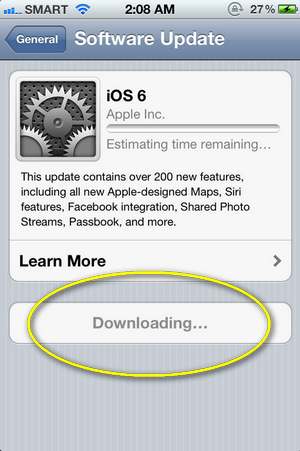 how to upgrade to ios6