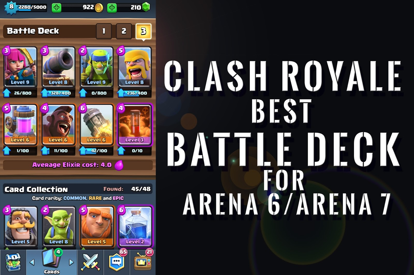 best army for clash royale arena 8 deck clash