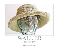 how to crochet, crochet patterns, sun hats, brimmed hats, unisex,