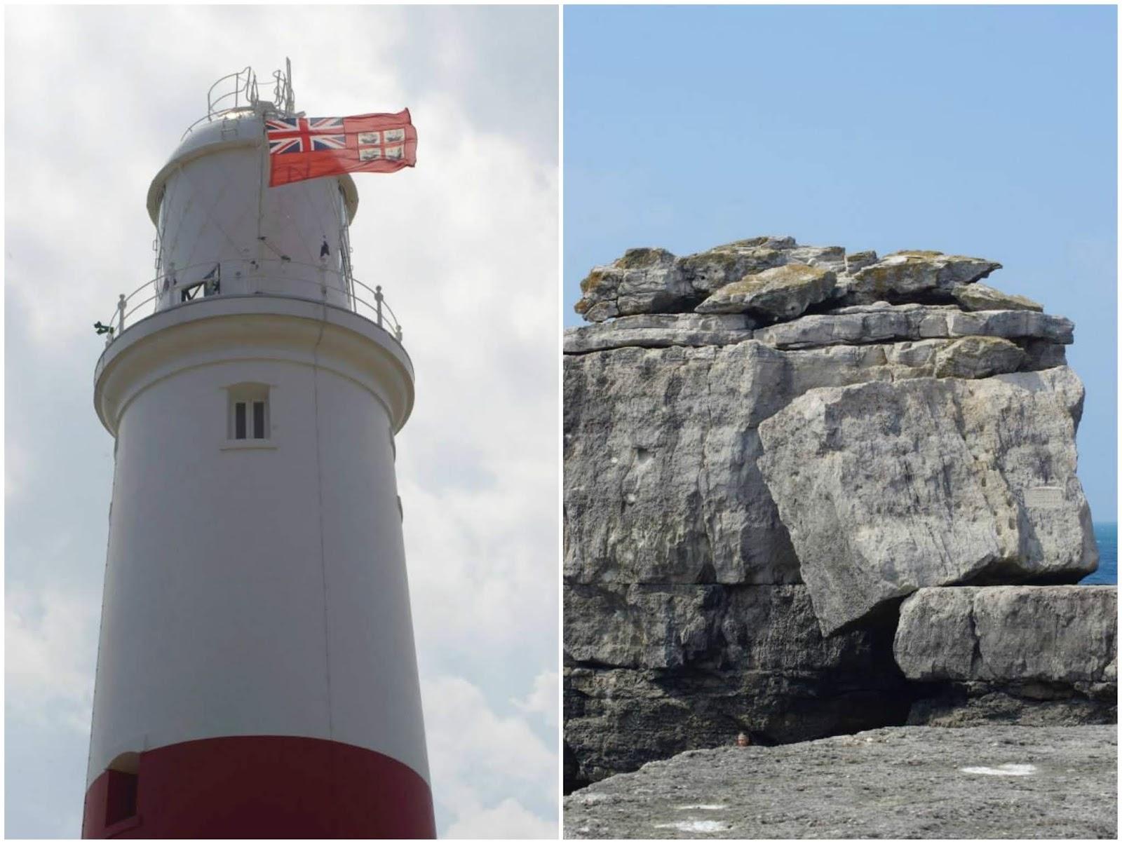 Portland Bill lighthouse \ Weymouth \ Dorset \ Pulpit rock