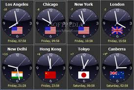 World Clock Seconds Time