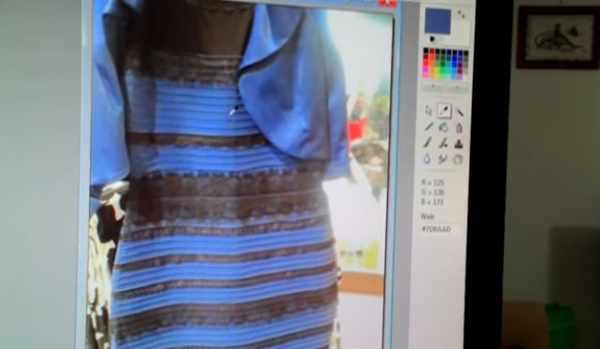 Mavi siyah sarı beyaz elbisenin sırrı