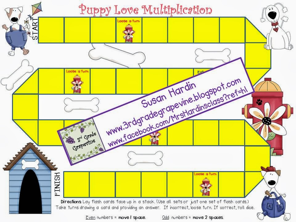 http://www.teacherspayteachers.com/Product/Puppy-Love-Multiplication-Flash-Cards-and-Board-Game-436885