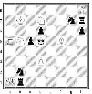 Problema de mate en 2 compuesto por Paul Bekkelund (1º Premio, Sjakk Nytt 1946)
