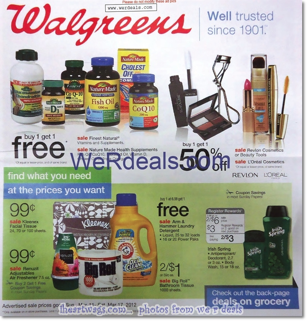 Walgreens Ad Preview 3/11 – 3/17