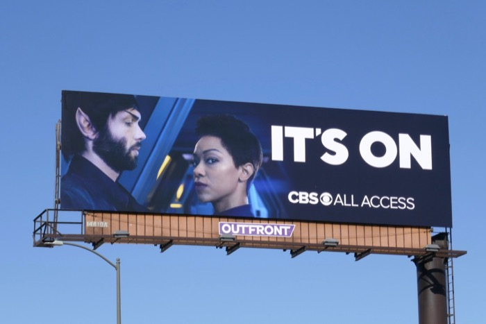Star Trek Discovery Its On CBS All Access billboard