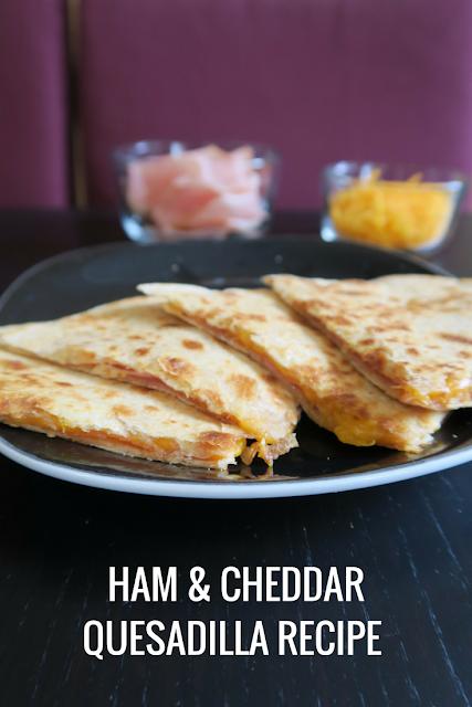 ham and cheddar quesadilla