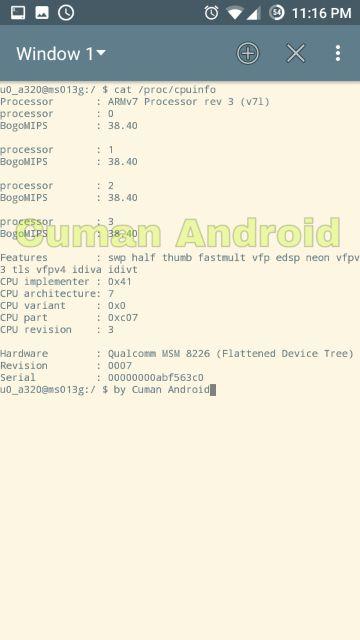 cara menggunakan terminal emulator di android