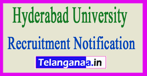 Hyderabad University Recruitment Notification 2017