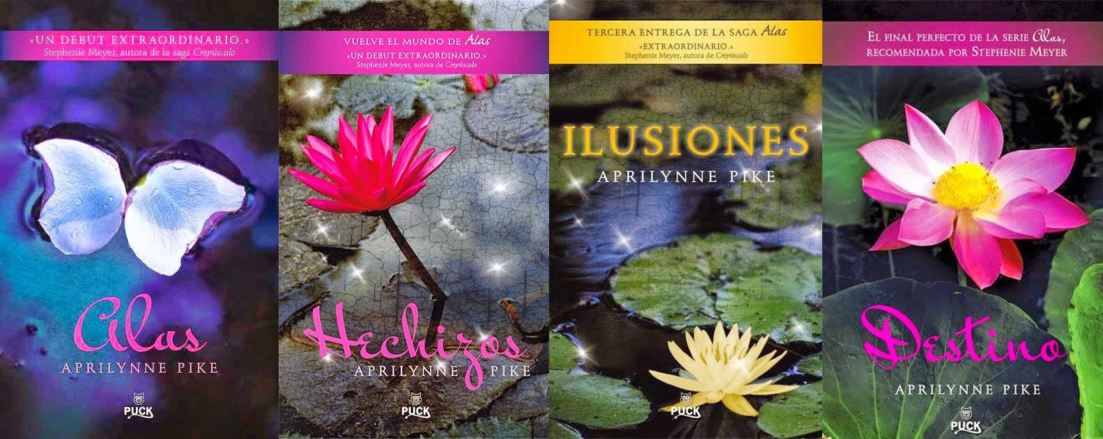 portadas libros serie alas de Aprilynne pike