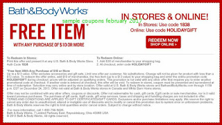 free Bath And Body Works coupons for february 2017