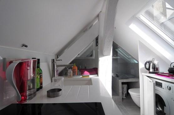 Cocina pequeña para un hogar de 16 m2