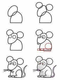 Belajar menggambar tikus untuk anak-anak