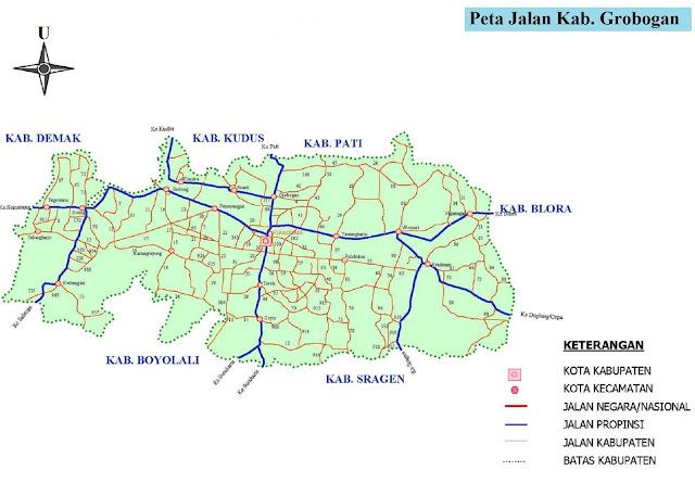 Peta Kabupaten Grobogan HD