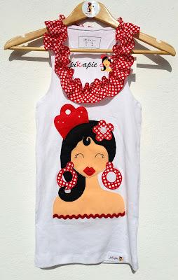 Camiseta flamenca novia Pikapic