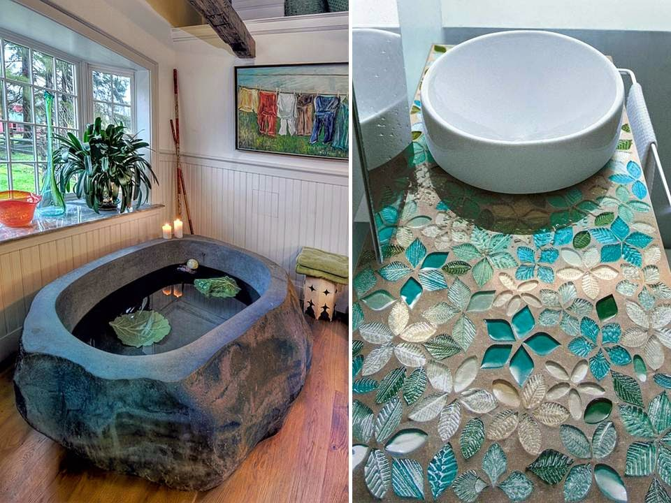 Amazing Bathroom Floor And Wall Mosaic Tiles Design Home