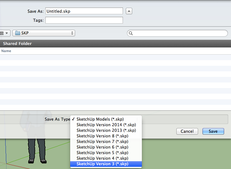 The Sketchup Blog: How to convert a Sketchup file to older version