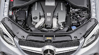 2016 New GLE63 S Coupe Mercedes Benz performance engine view