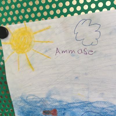"""Kinderzeichnung zu """"Mein Ammersee"""""""
