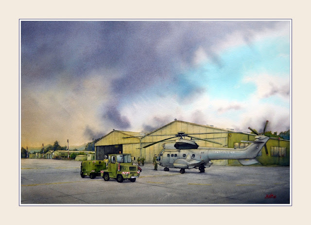 Aquarelle, AS-332C, Super-Puma, EH 01-044, BA 126
