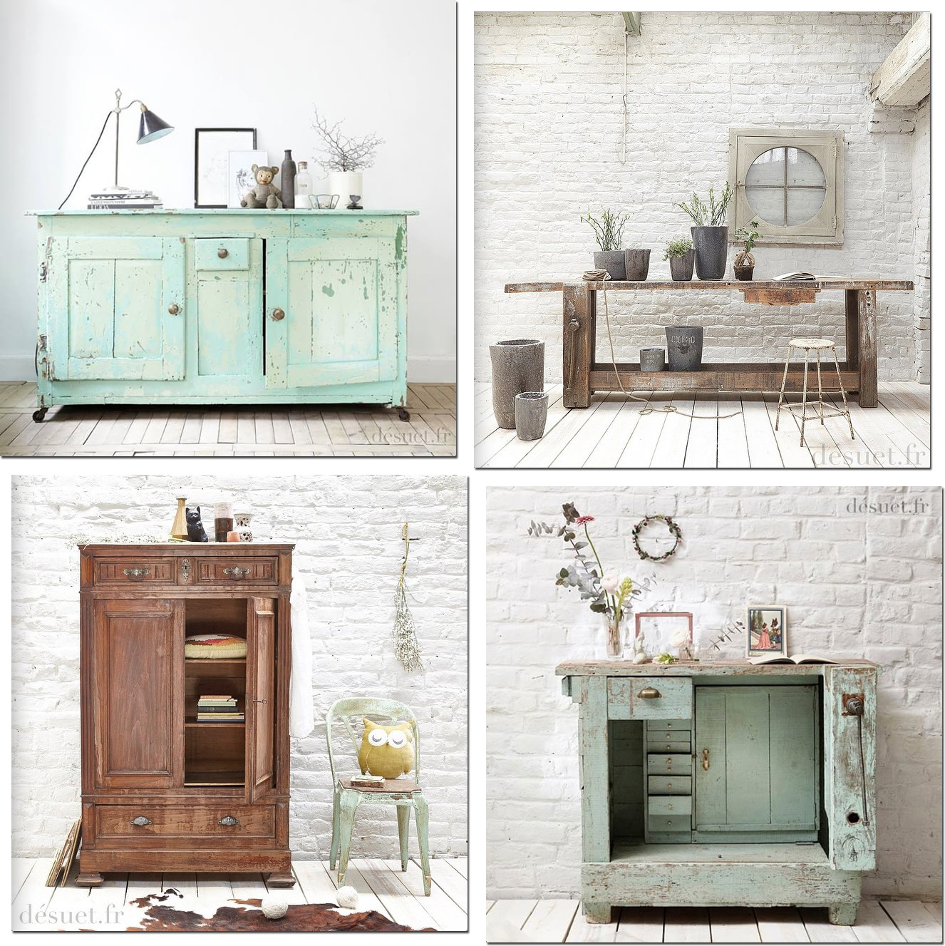 Stile shabby mobili antichi shabby chic interiors for Mobili country