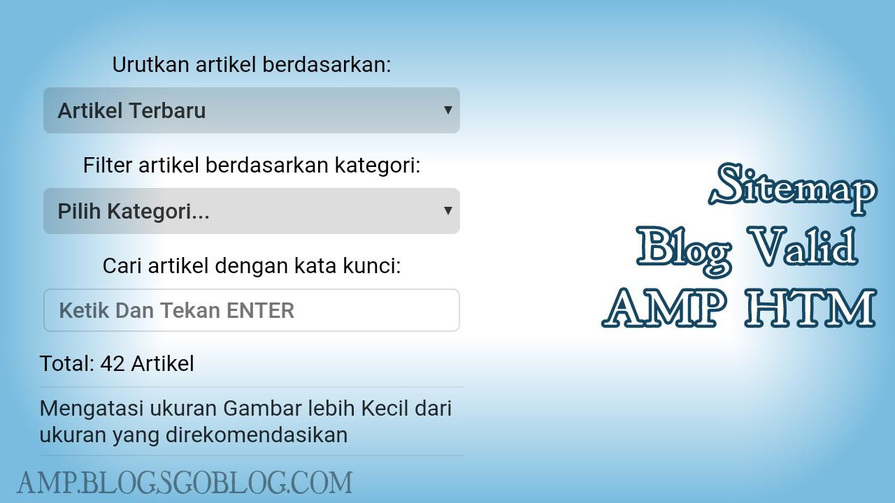 Cara Membuat Sitemap di Halaman Static Blogger AMP HTML Terbaru
