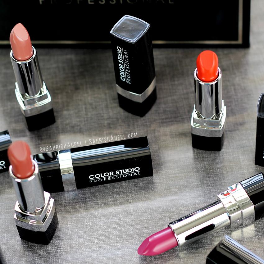 Velvet Lipsticks by Color Studio Professional - Review & Lip Swatches