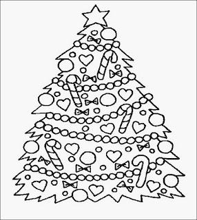 Desenhos De Arvore De Natal Para Imprimir