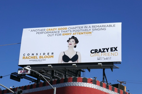 Rachel Bloom Crazy Ex-Girlfriend 2018 Emmy Billboard