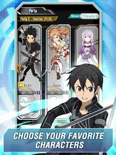 Sword Art Online Memory Defrag Modapk God Mode 1.15.2