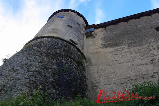 Una de las torres del castillo de Bled