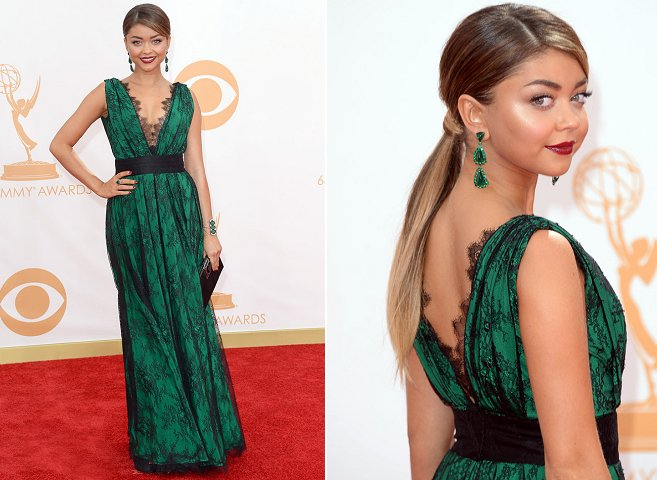 Sarah Hyland in CH Carolina Herrera – 2013 Emmy Awards