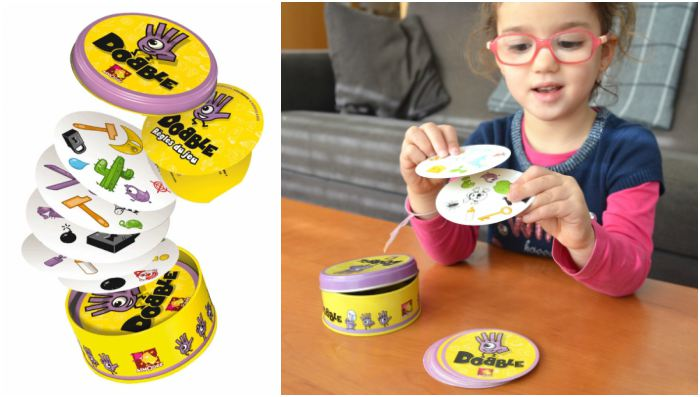 juguetes y juegos para ayudar a aprender a leer y escribir, cartas dobble