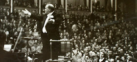 Sir Henry Wood conducting at the Proms (Photo from Royal Academy of Music's Sir Henry Wood Collection)