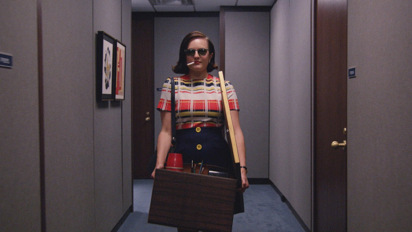 Peggy Olson en un fotograma de Mad Men