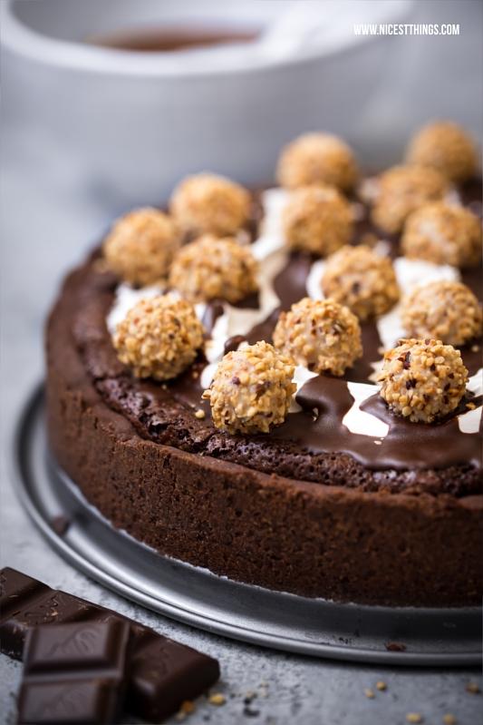 Giotto Tarte Rezept Brownie Kuchen Frangelico Marshmallow