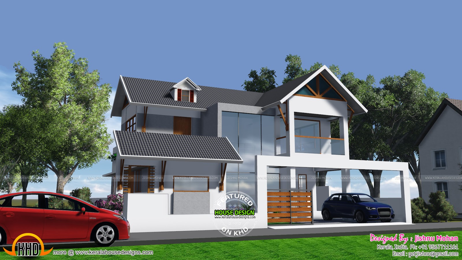 This house can be built in 5 cents of land kerala home for Home design photo
