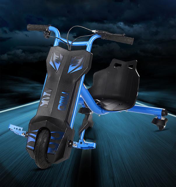 Xe diện 3 Bánh Drift Scooter màu xanh