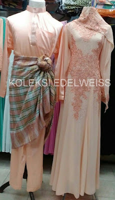 Set Baju Pengantin Warna Soft Peach