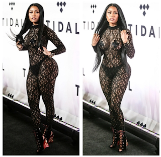 Nicki Minaj Sheer Bodysuit