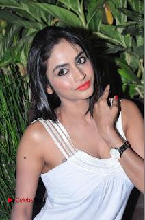 Actress Model Pooja Sri Stills in White Short Dress at F Club pre soft Launch  0156.JPG