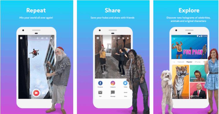 الآن إضافة الصور المجسمة من أناس حقيقيين والحيوانات في أشرطة الفيديو الخاصة بك مع هذا التطبيق الرائع