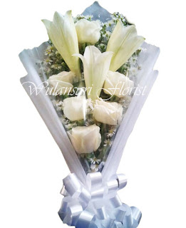Hand Bouquet Roses & Lily WS-135