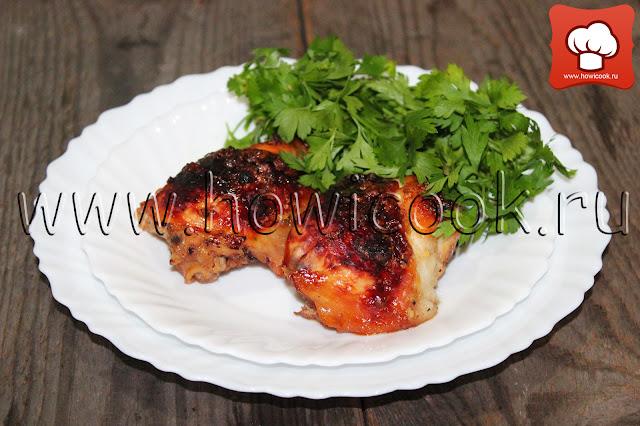 рецепт вкусной курицы с медом в духовке