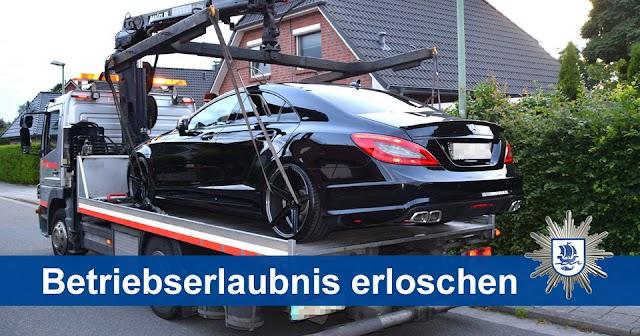 Wilhelmsburg: Knatternder Mercedes aus dem Verkehr gezogen