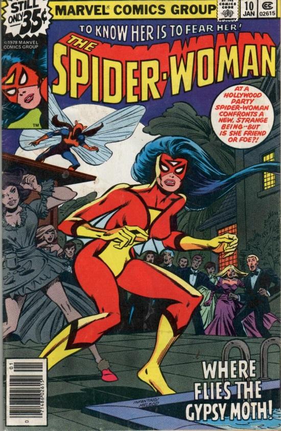 Portada de Spider-Woman #10, obra de Bob McLeod