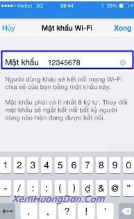 Cach phat wifi bang dien thoai iphone