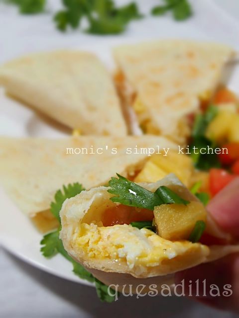 quesadillas dengan homemade tortillas
