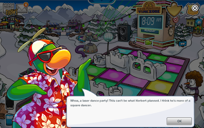 Club Penguin Laser Dance Party